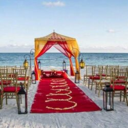 Dreams Tulum Beach Wedding Setup