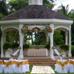 Hilton Rose Hall Garden Wedding Gazebo