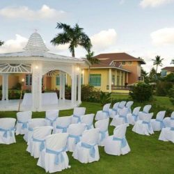 Ocean Blue and Sand Garden Wedding